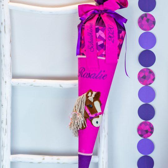 Personalisierte Schultüte (passend zum Ergobag NachtschwärmBär-Design)