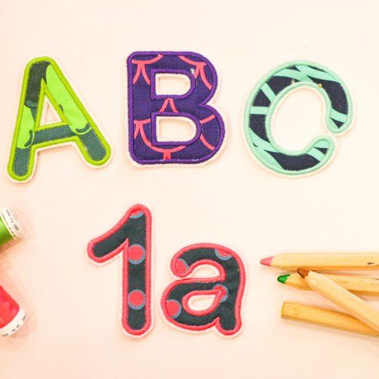 Applikationen Buchstaben