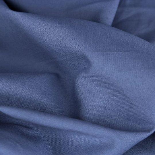 Baumwollstoff rauchblau