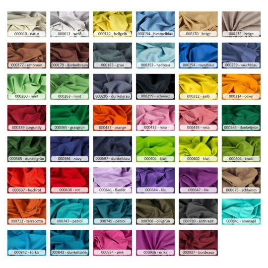 Baumwollstoff Uni Farben